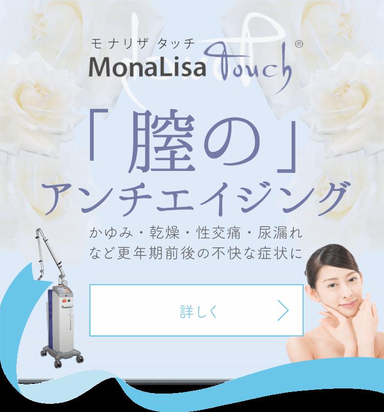 ManaLisa Touch モナリザタッチ 「膣のアンチイジング」かゆみ・乾燥・性交痛・尿漏れなど更年期前後の不快な症状に