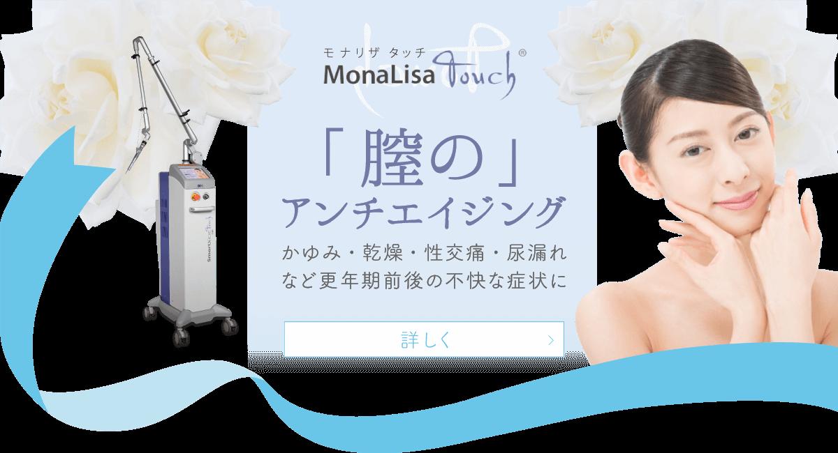 MonaLisa Touch モナリザタッチ 「膣のアンチエイジング」かゆみ・乾燥・性交痛・尿漏れなど更年期前後の不快な症状に